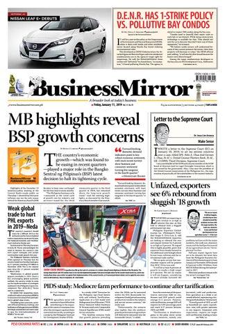 Businessmirror January 11, 2019 by BusinessMirror - issuu