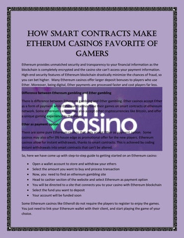 ethereum casino reviews