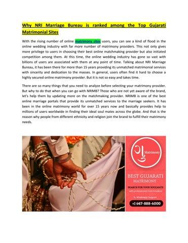 Why NRI Marriage Bureau is ranked among the Top Gujarati