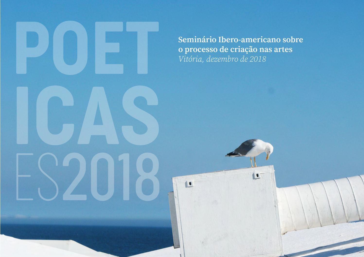 da2278395 POETICAS, ES 2018 ANAIS - parte 1 by Jose Cirillo - issuu