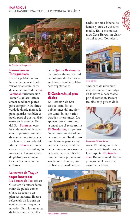 Guía Gastronomía Cádiz A Pedir De Boca By Patronato