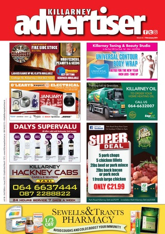 2b1e6a1d2 Killarney Advertiser January 11th 2019 by Killarney Advertiser - issuu