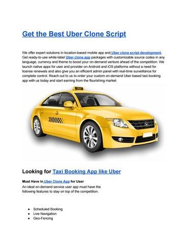 Uber Clone, Uber Clone App, Uber Clone Scripts, Taxi App Development