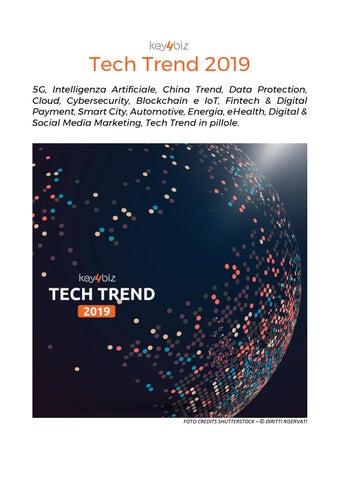 Tech Trend 2019 Key4biz By Rivista Donna Due Issuu