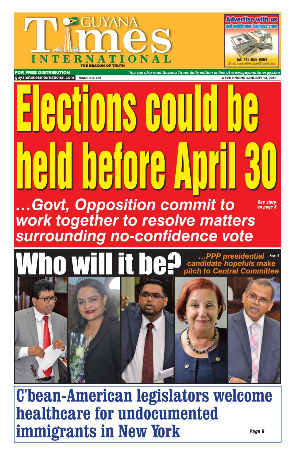 Guyana Times International 11 January 2019 by Gytimes - issuu