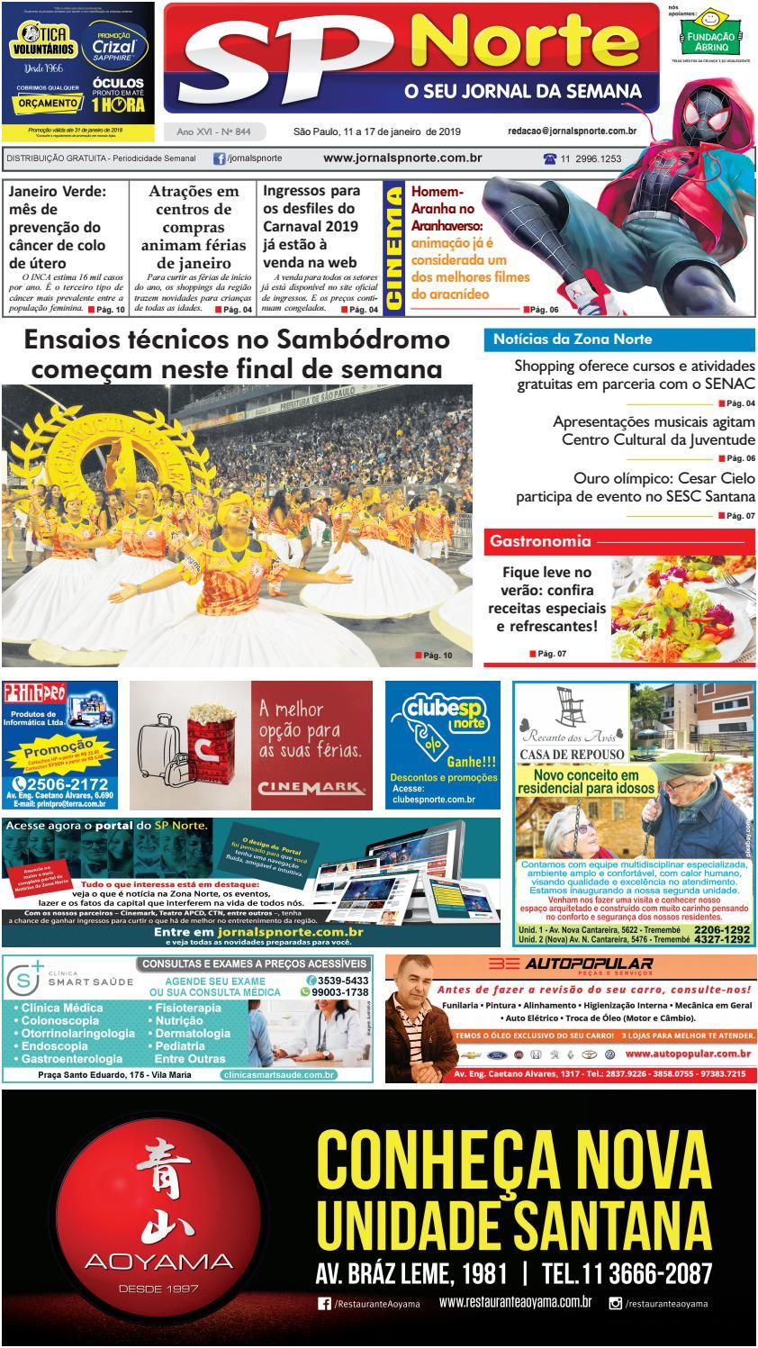 Edição 844 - 11 a 17 de Janeiro de 2019 by Jornal SP Norte - issuu be67c0cb28e5b