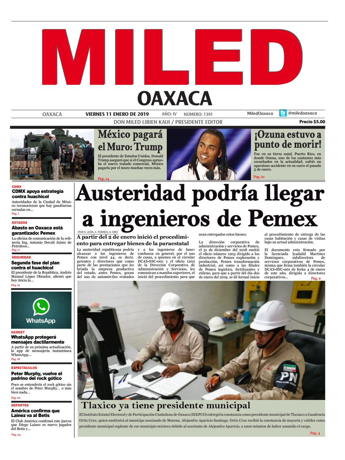 1ee8e0aee Miled Oaxaca 11-01-2019 by Miled Estados - issuu