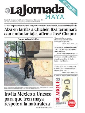 5695882457d86 La Jornada Maya · viernes 11 de enero de 2019 by La Jornada Maya - issuu
