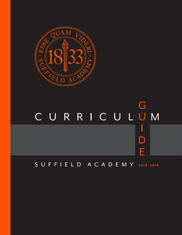 Suffield Academy Curriculum Guide 2018 2019 By Suffield