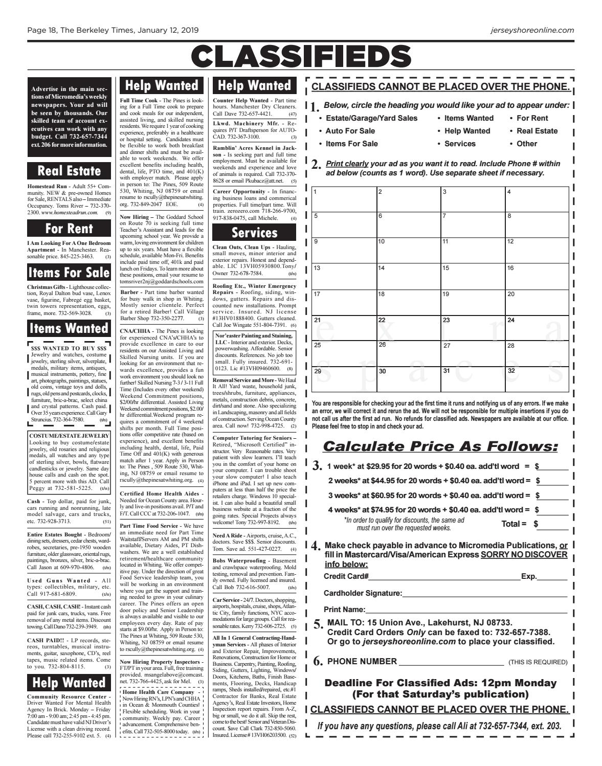 2019-01-12 - The Berkeley Times by Micromedia Publications