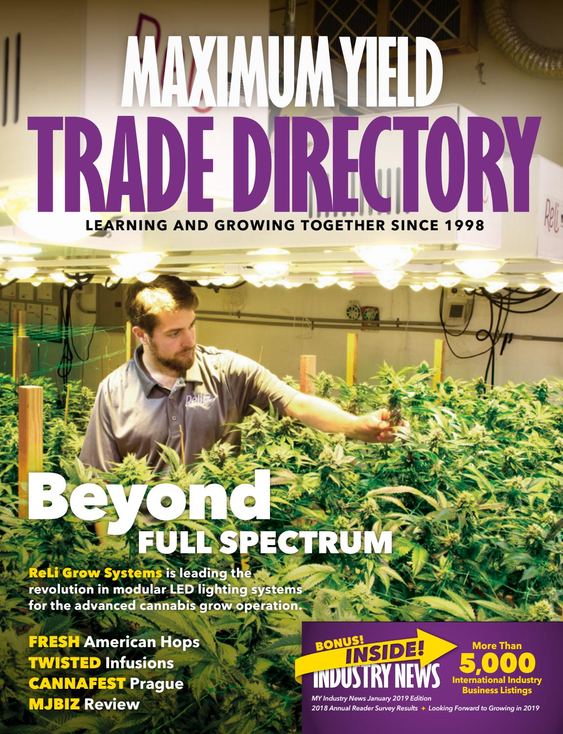 Maximum Yields Trade Directory Industry News Special