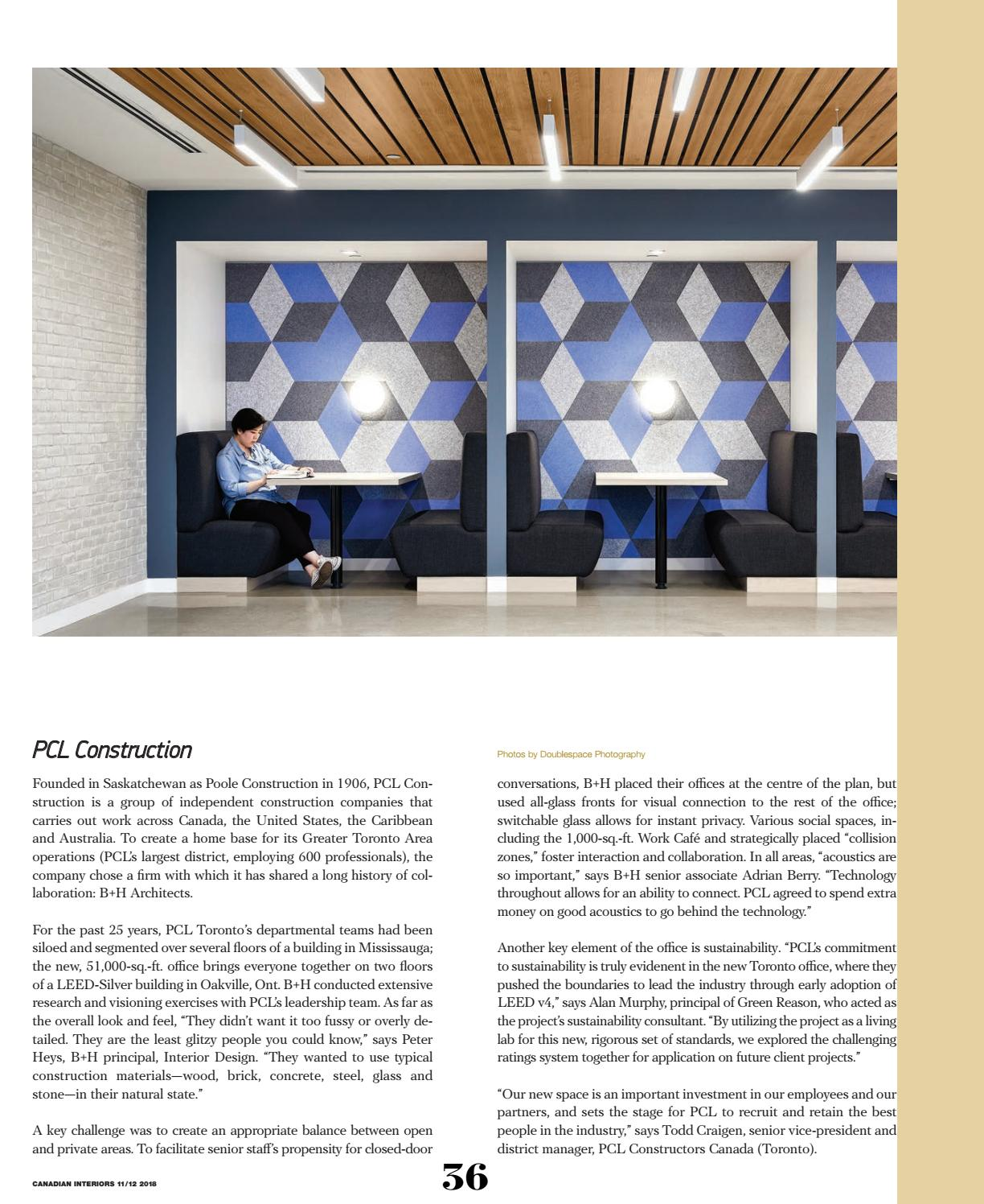 Canadian Interiors November December 2018 by IQ Business