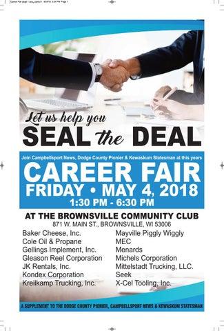 Career Fair 2018 by Dodge County Pionier - issuu