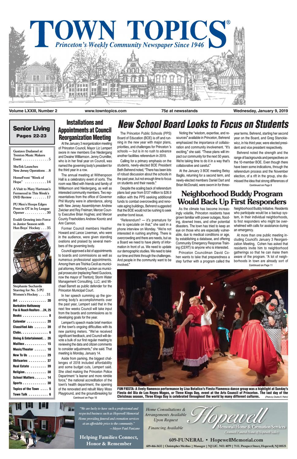 Town Topics Newspaper, January 9 by Witherspoon Media Group - issuu