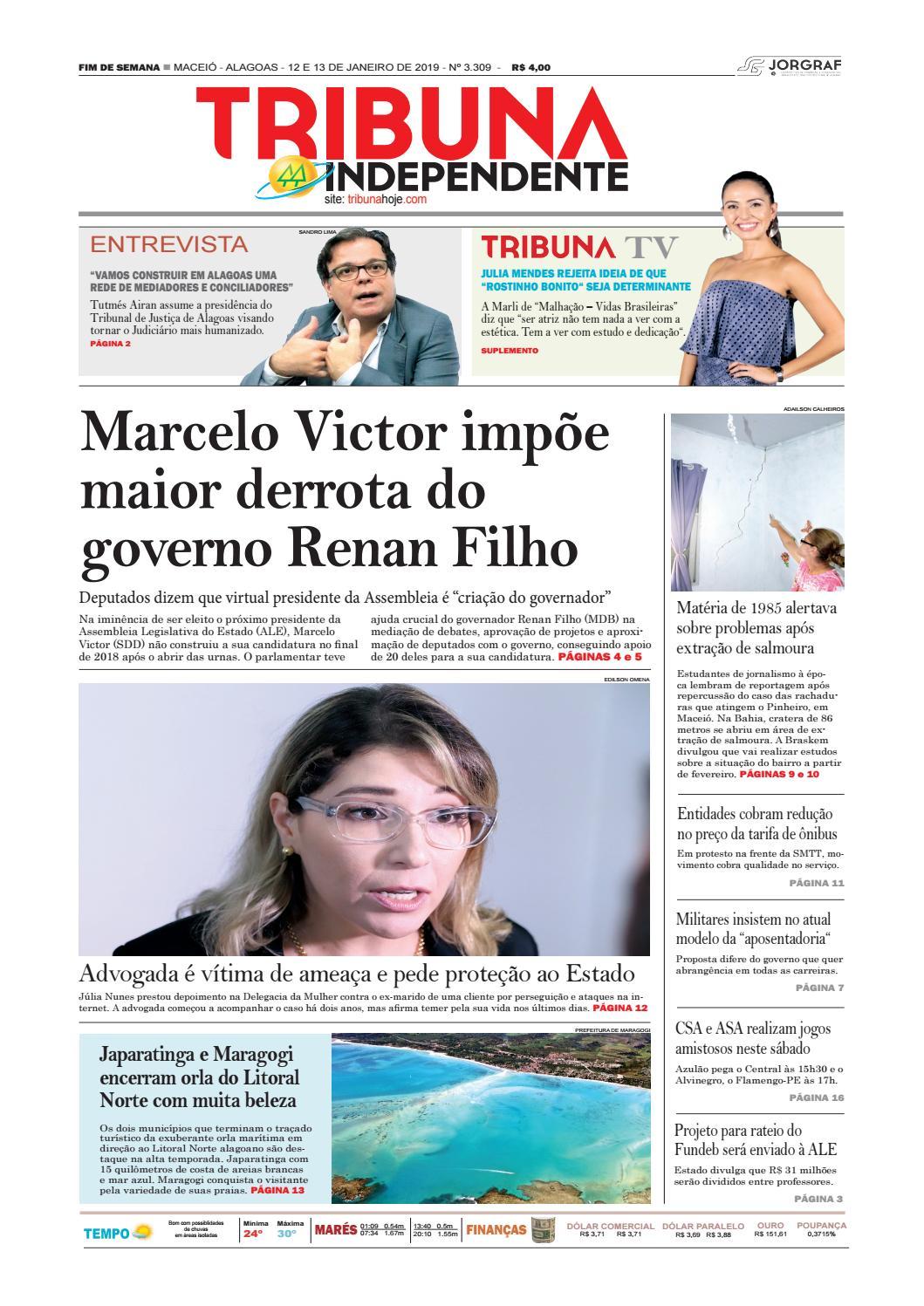 Edição número 3309 - 12 e 13 de janeiro de 2019 by Tribuna Hoje - issuu 3281963c89