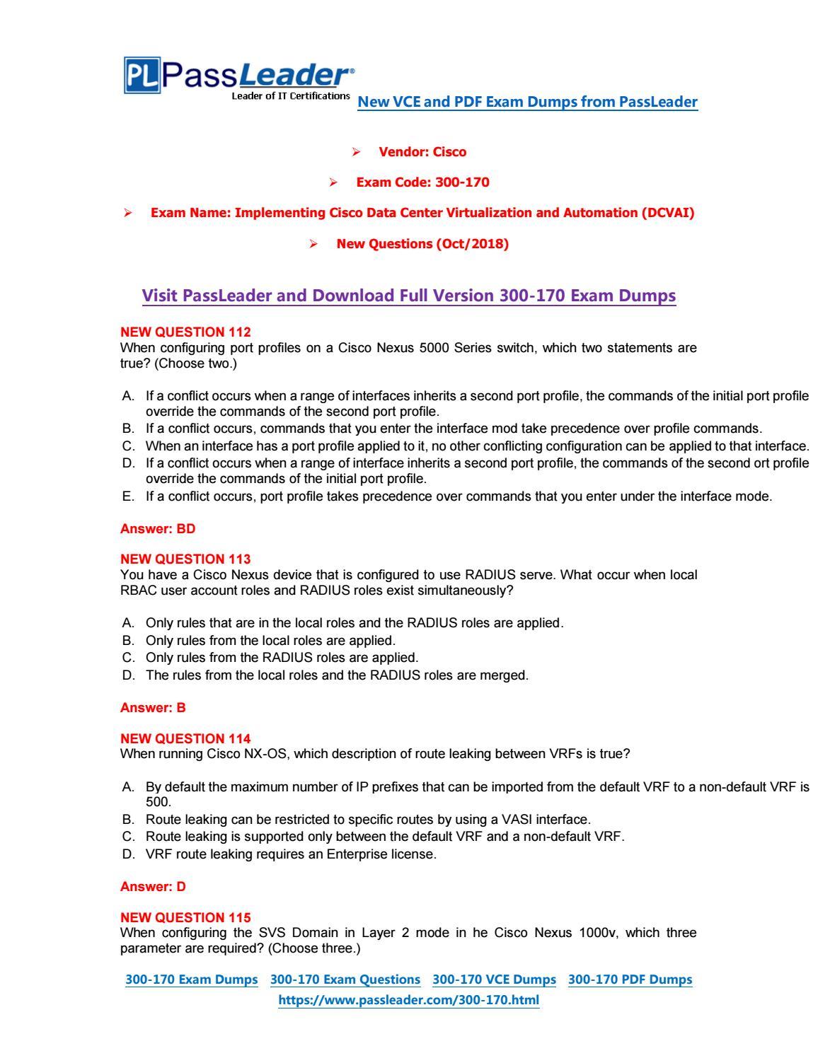 2019-New-PassLeader-300-170-Exam-Dumps-VCE-PDF-Braindumps-Exam