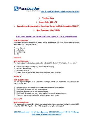 2019-New-PassLeader-300-175-Exam-Dumps-VCE-PDF-Braindumps-Exam