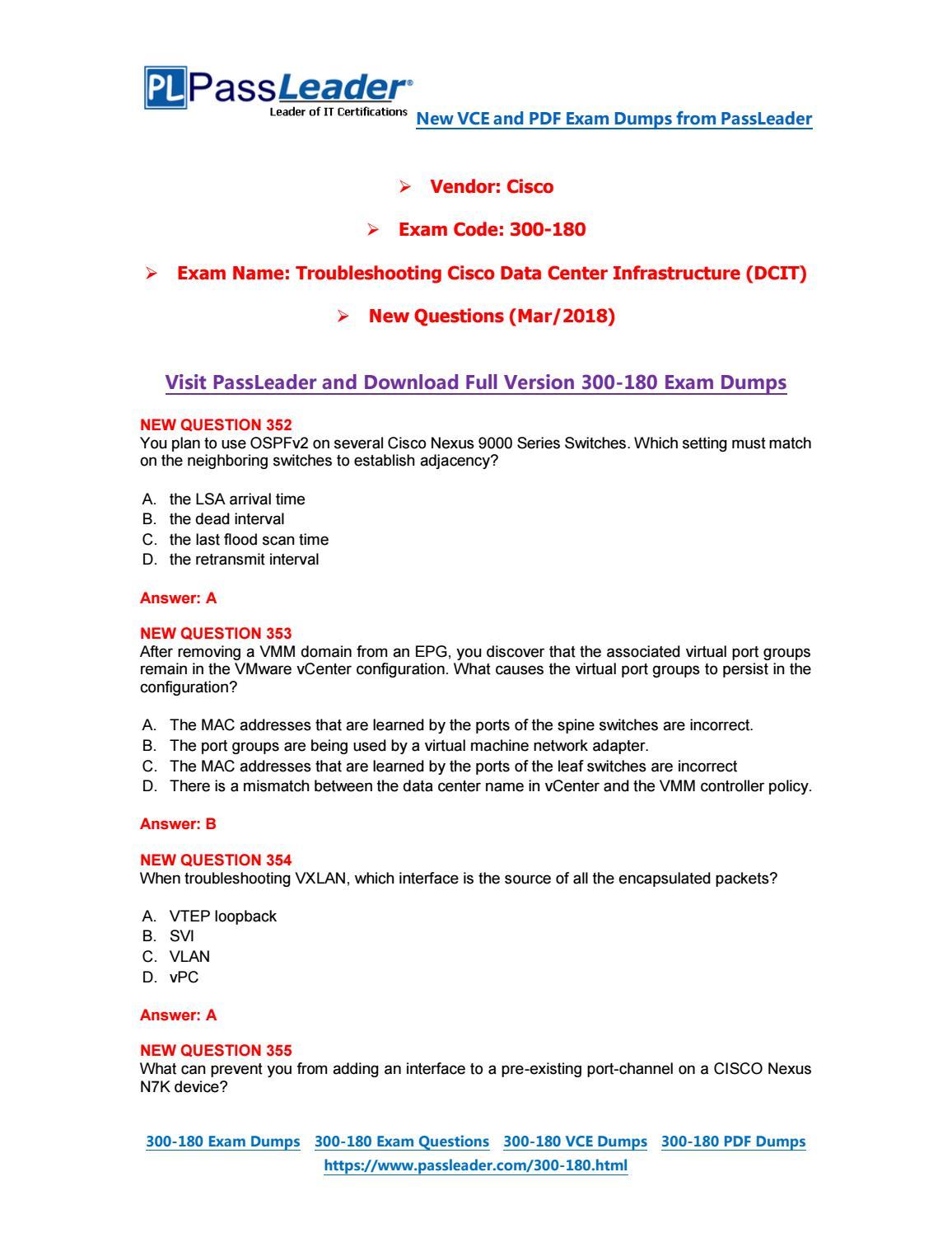 2019-New-PassLeader-300-180-Exam-Dumps-VCE-PDF-Braindumps-Exam