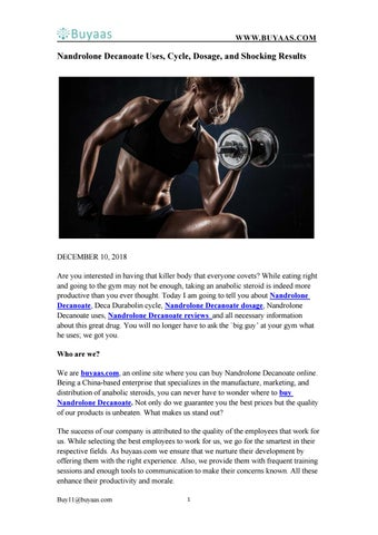 Nandrolone Decanoate Uses, Cycle, Dosage, and Shocking Results by