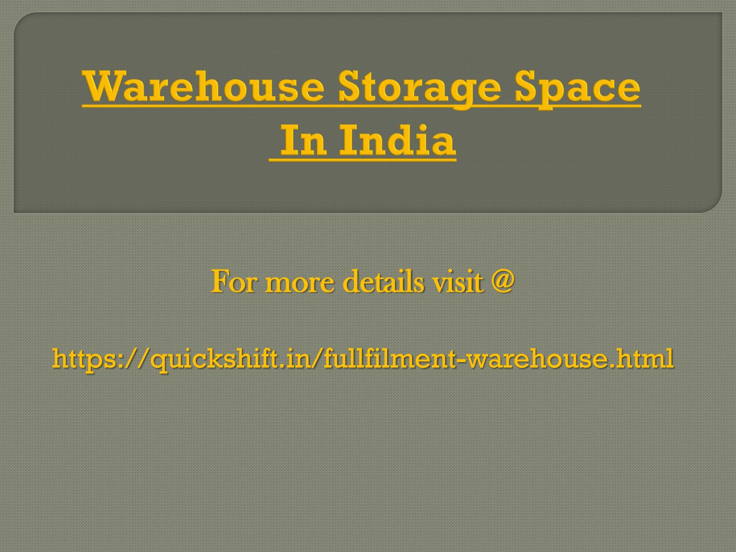 THE IMPORTANCE OF WAREHOUSING TO YOUR BUSINESS by Quick Shift - issuu