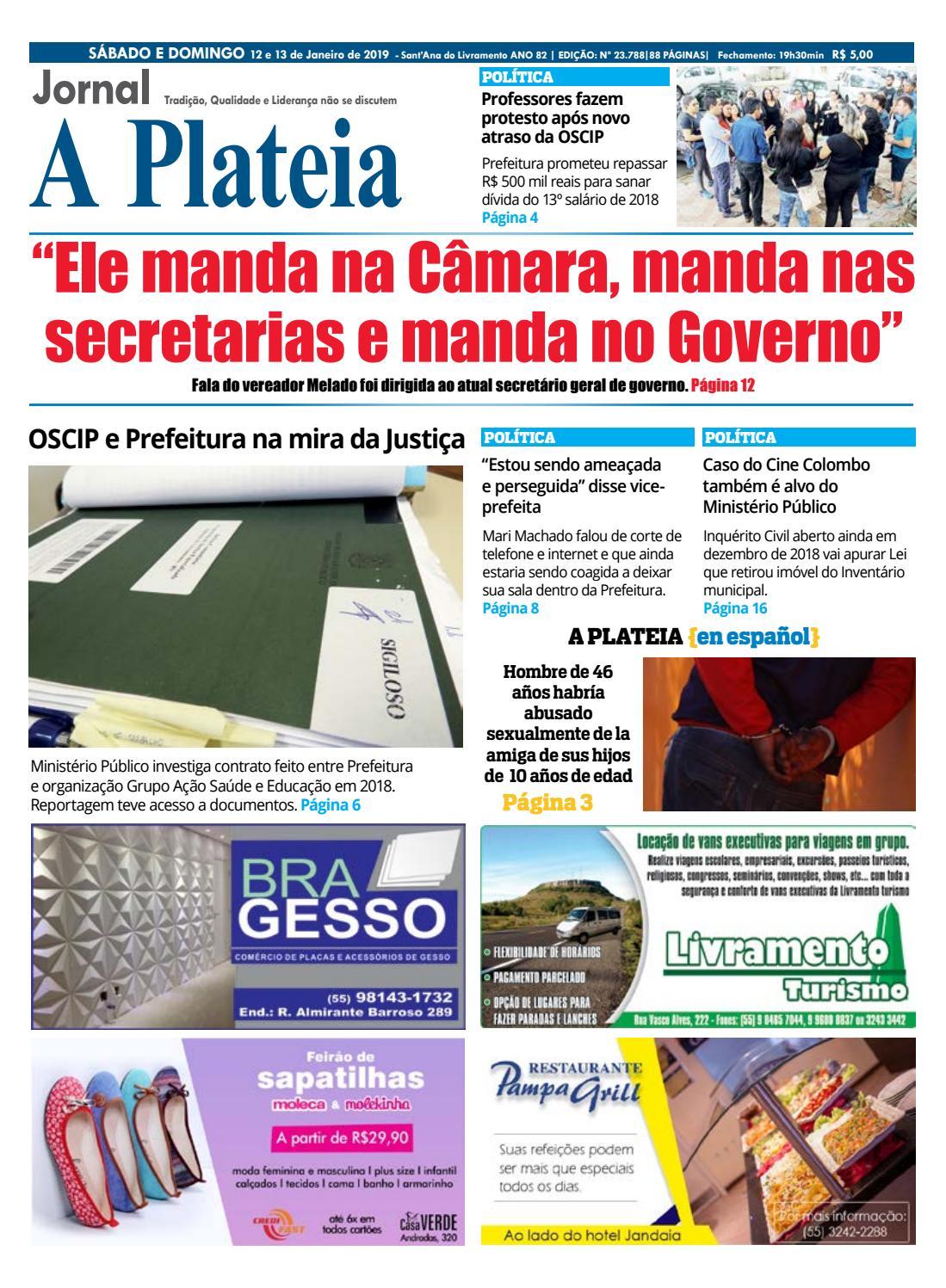 Jornal A Plateia - 12 de Janeiro 2019 by Jornal A Plateia Livramento - issuu a2d4c8112e6b0