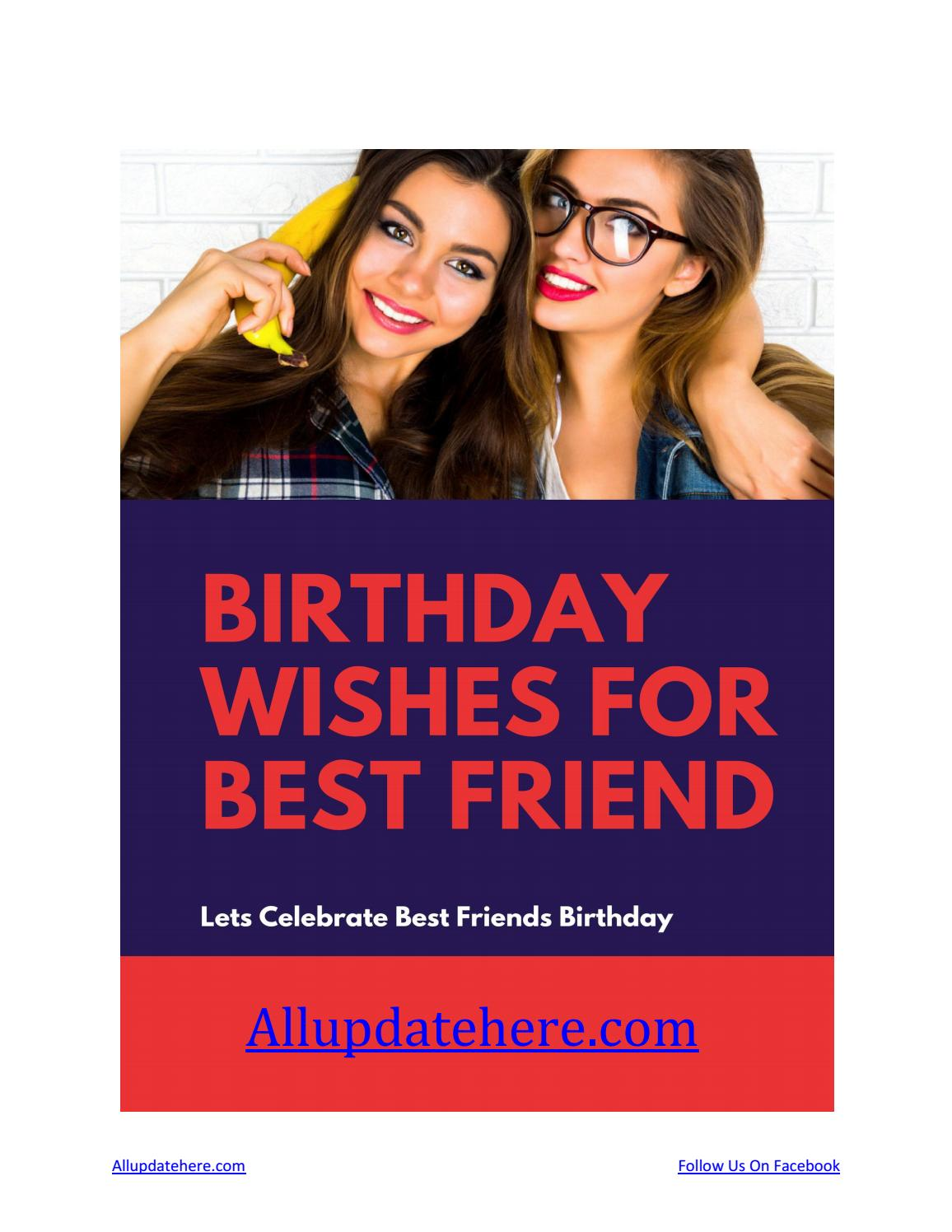 Top Birthday Wishes For Best Friend Male Best Friend Birthday Quotes By Rosa Hudson Issuu