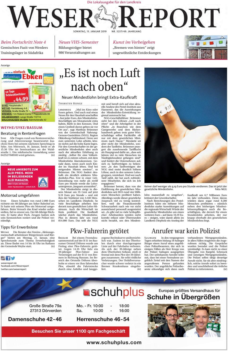 Weser Report - Weyhe, Syke, Bassum vom 13.01.2019 by KPS ...