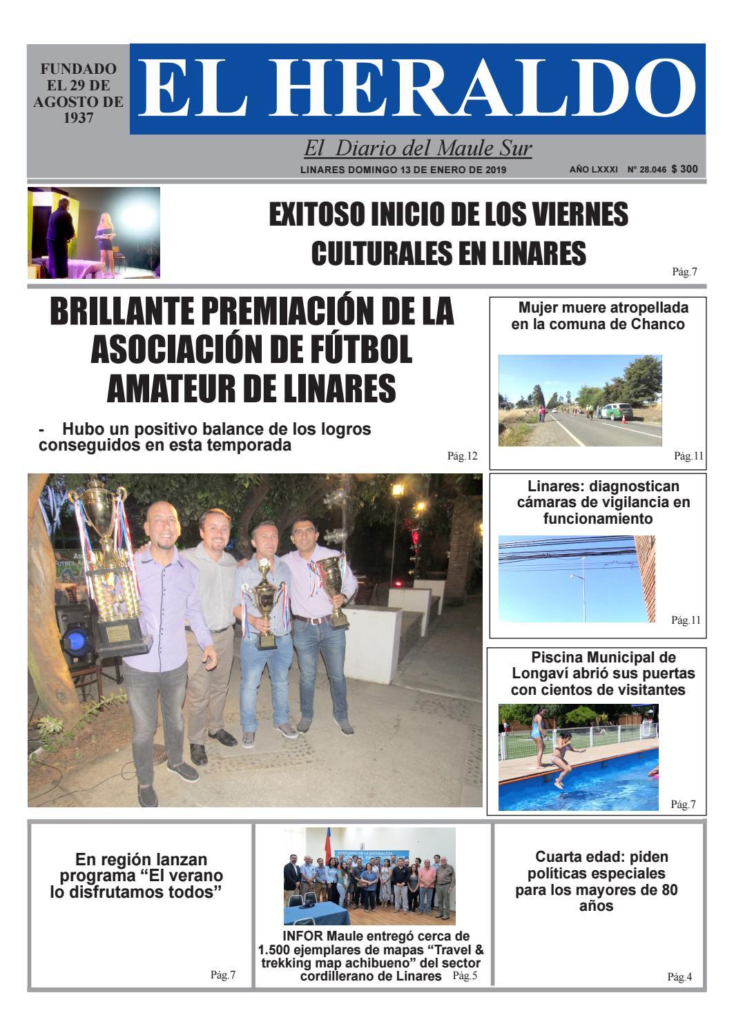 Domingo 13 de enero 2019 by diario heraldo de linares - issuu