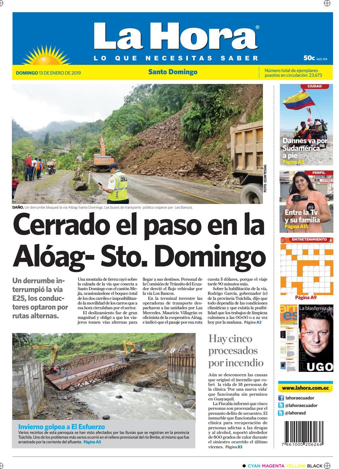 Santo Domingo 13 de enero de 2019 by Diario La Hora Ecuador - issuu fc8de577c084d