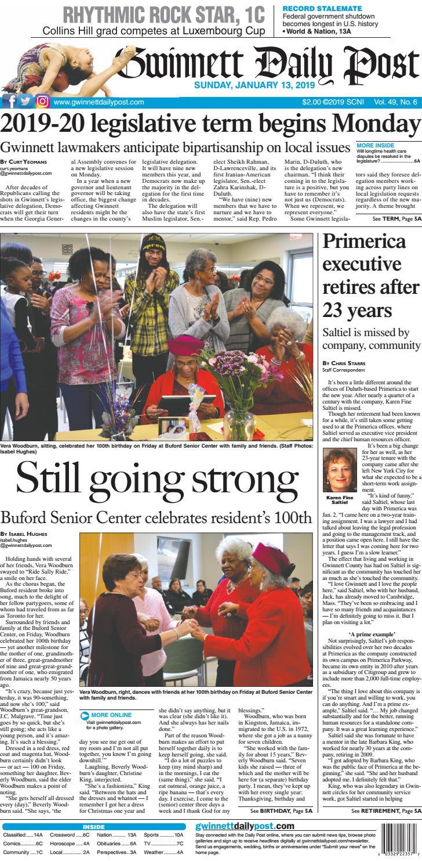 January 13, 2019 — Gwinnett Daily Post by Gwinnett Daily