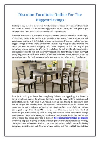 Discount Furniture Online For The Biggest Savings By Chirag Patel