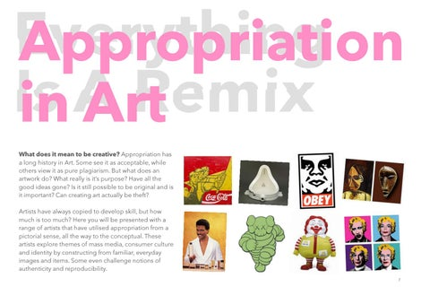 Appropriation in Art: An Overview by Frank Curkovic - issuu