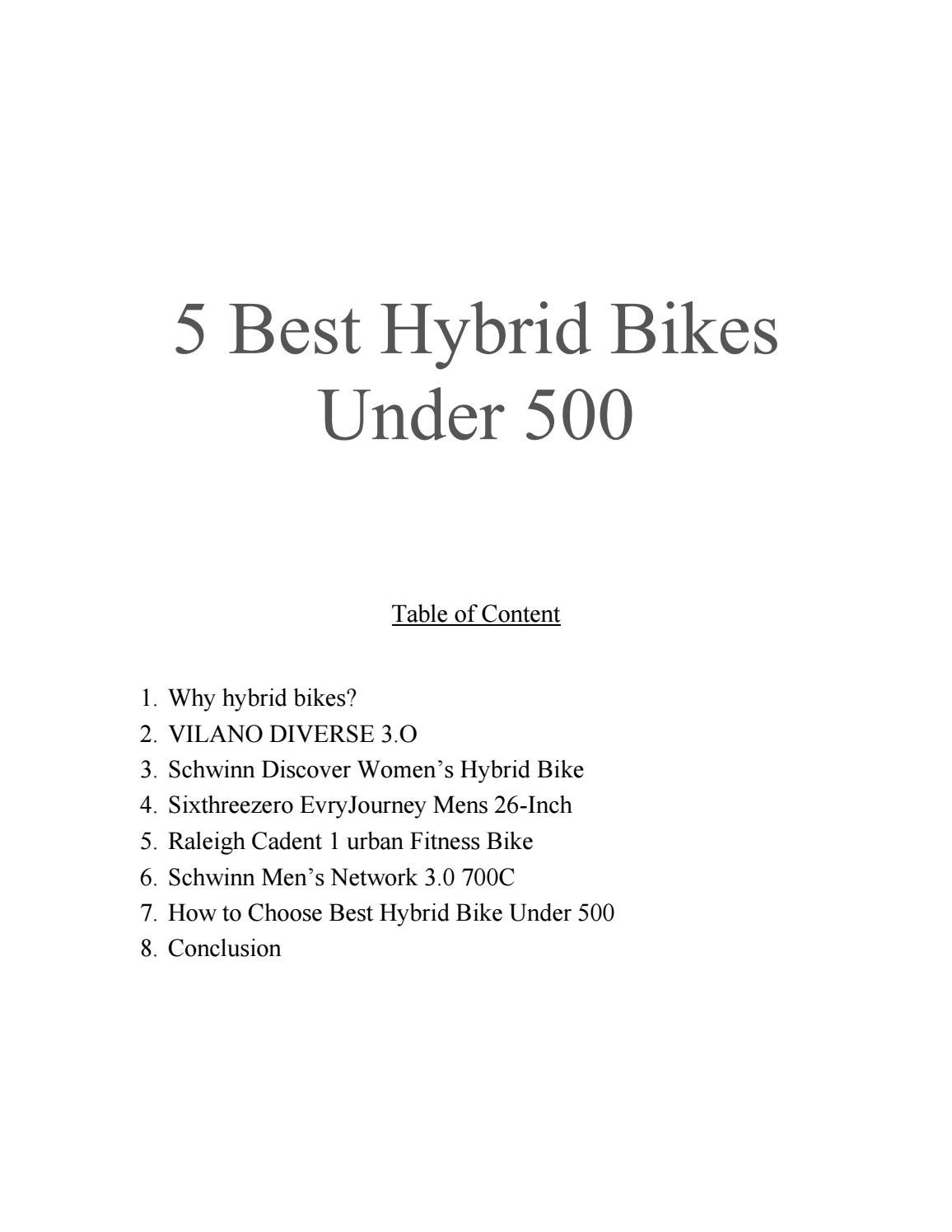 5 Best Hybrid Bikes Under 500 by One Sport Ninja - issuu