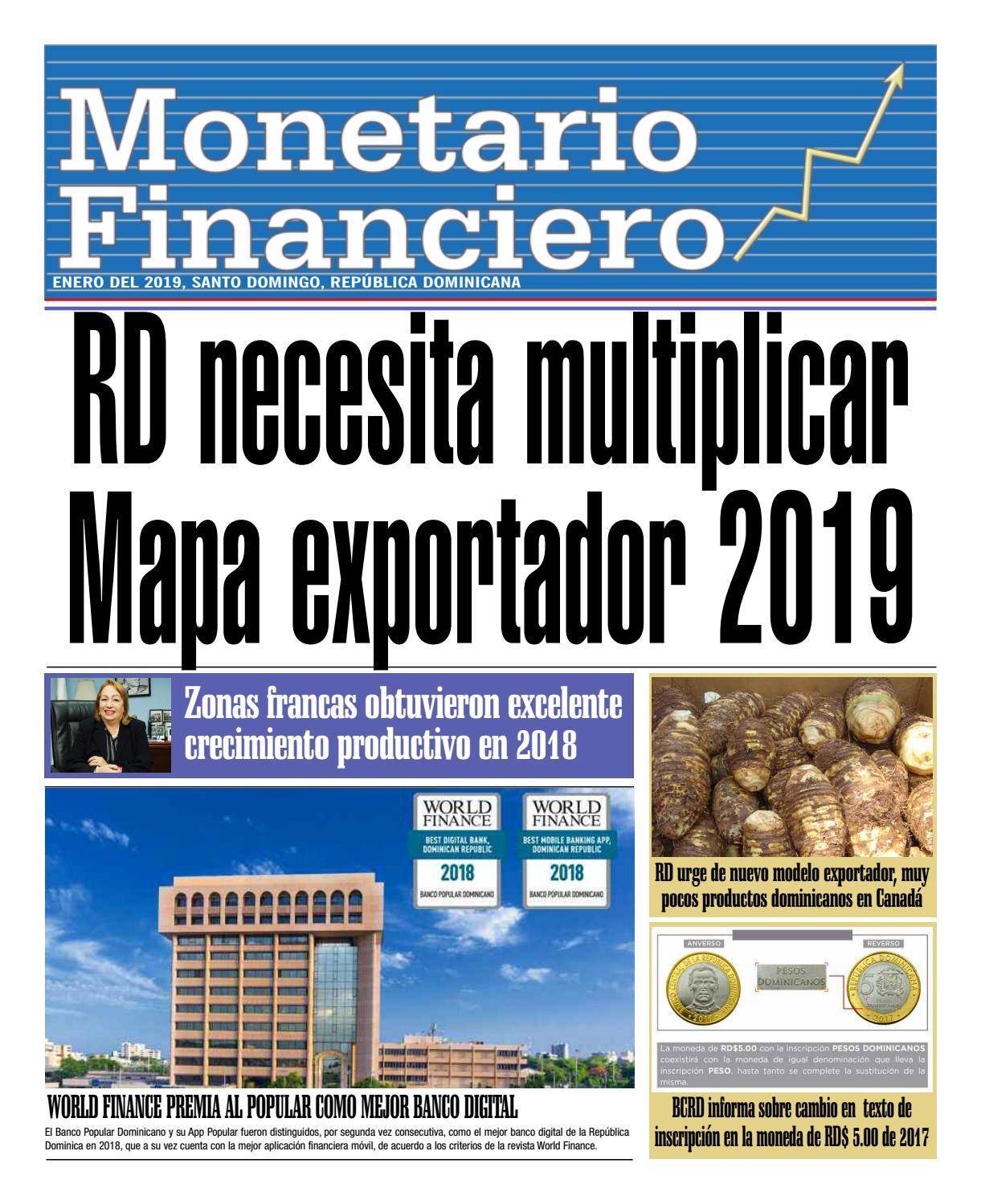 Monetario Y Financiero Enero 2019 By