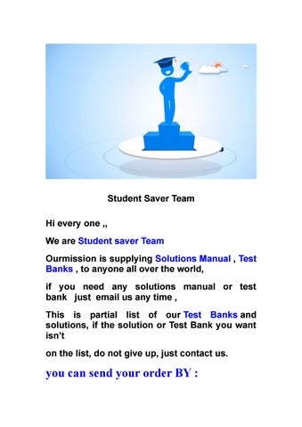 List Of The Solution Manual And Test Bank By Studentt Saverr Issuu