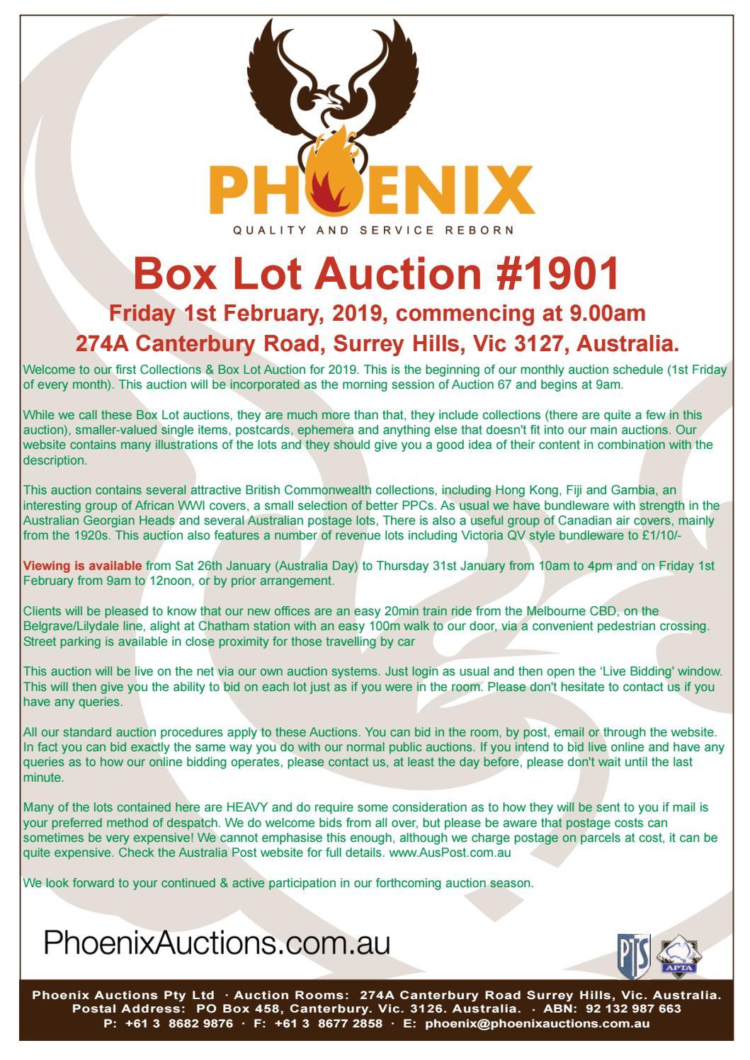Phoeinix Auctions 1901 by Phoenix Auctions Pty Ltd - issuu
