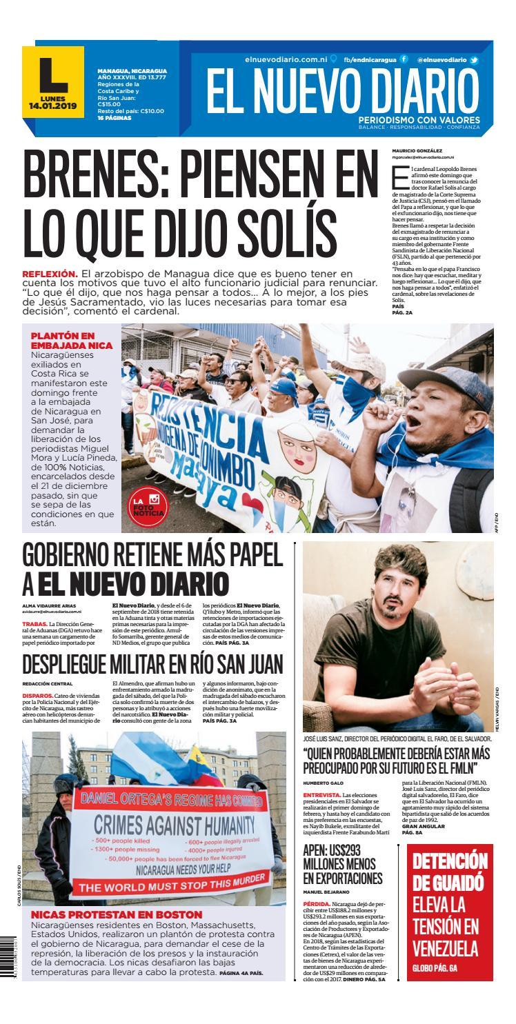 ePaper El Nuevo Diario 14 de Enero 2019 by El Nuevo Diario - issuu bce2a5ec8ba8d