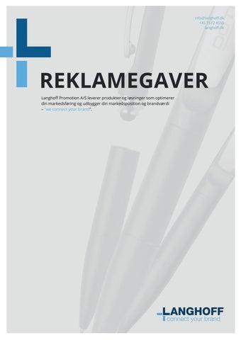 d0bb28ec503 Reklamegaver by Langhoff Promotion - issuu