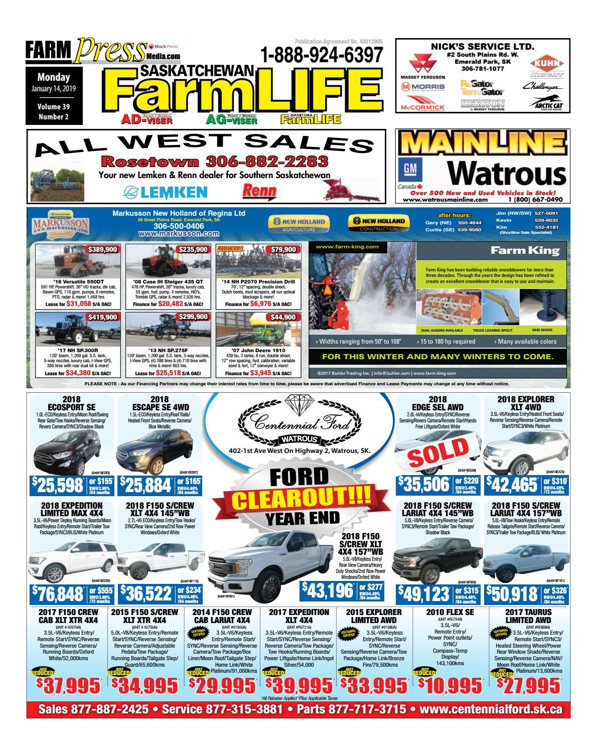 Saskatchewan Farm Life, January 14, 2019 by Black Press