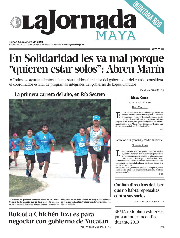 57664ef8a4a19 La Jornada Maya · lunes 14 de enero de 2019 by La Jornada Maya - issuu