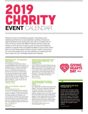Page 111 of 2019 Charity Event Calendar