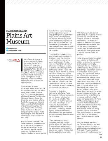 Page 71 of Arts & Culture: Plains Art Museum