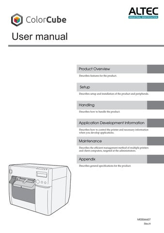 ColorCube User Manual by ALTEC industrial identification - issuu