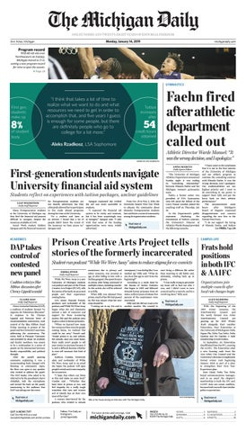 65697a526725 2019-01-14 by The Michigan Daily - issuu