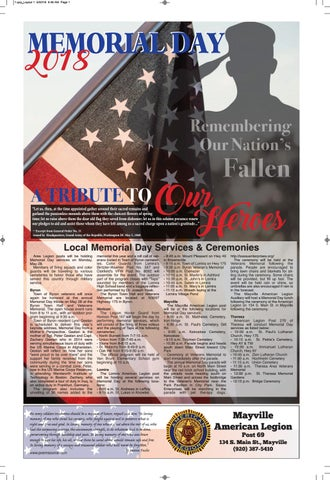 Memorial Day 2018 By Dodge County Pionier Issuu