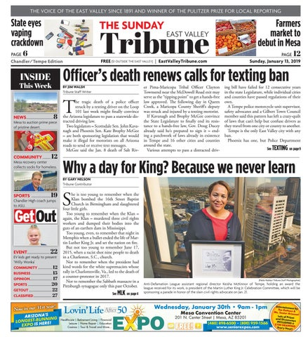 East Valley Tribune Chandler Tempe January 13 2019 By Times Media