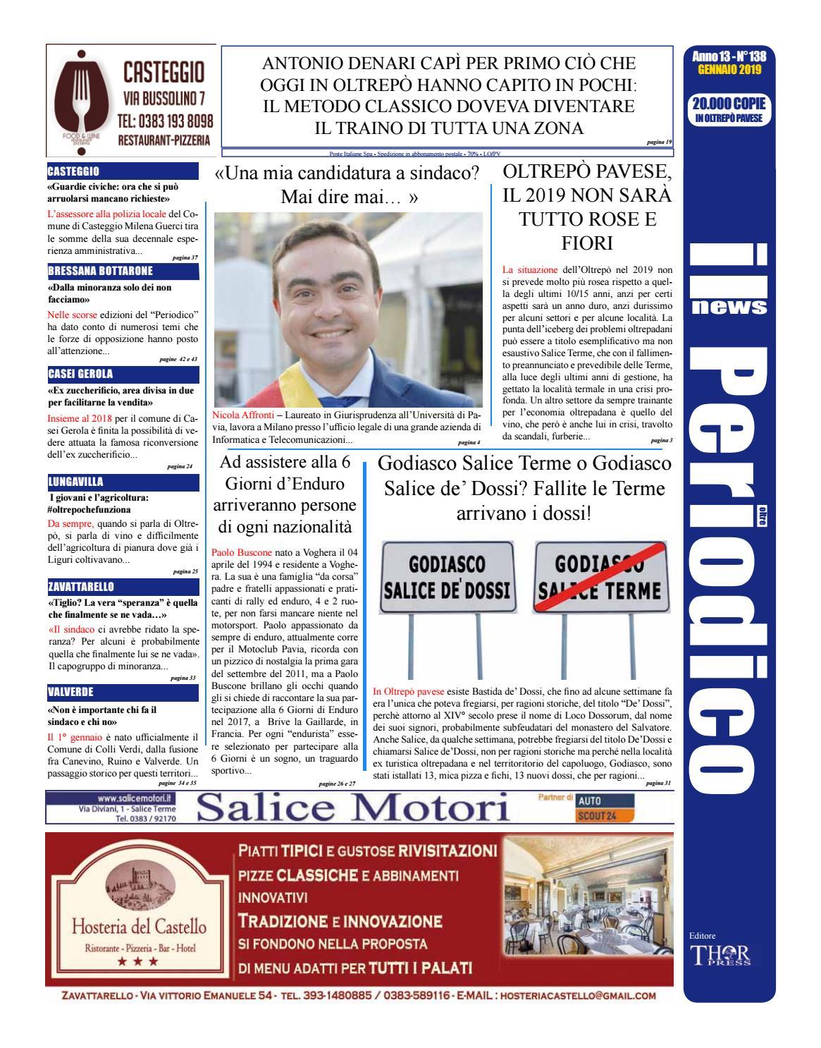 bcdbf59ed8184 Il Periodico News - GENNAIO 2019 N°138 by IlPeriodicoNews - issuu