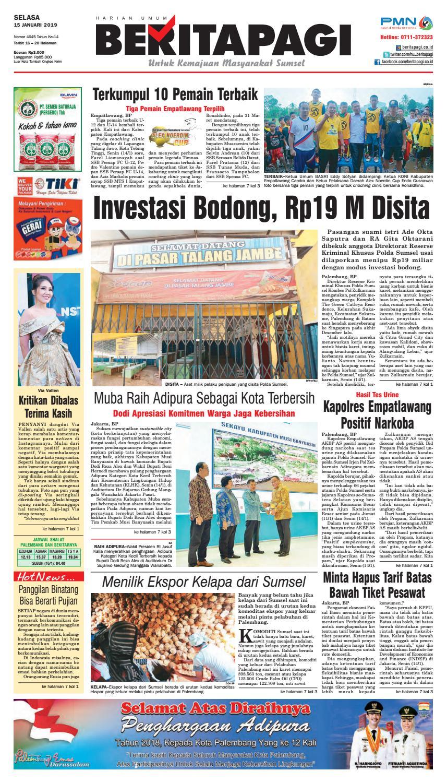 Beritapagi Selasa 15 Januari 2019 By Beritapagi Issuu