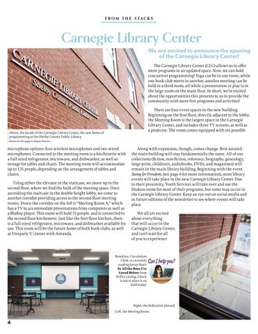 Page 4 of Carnegie Library Center
