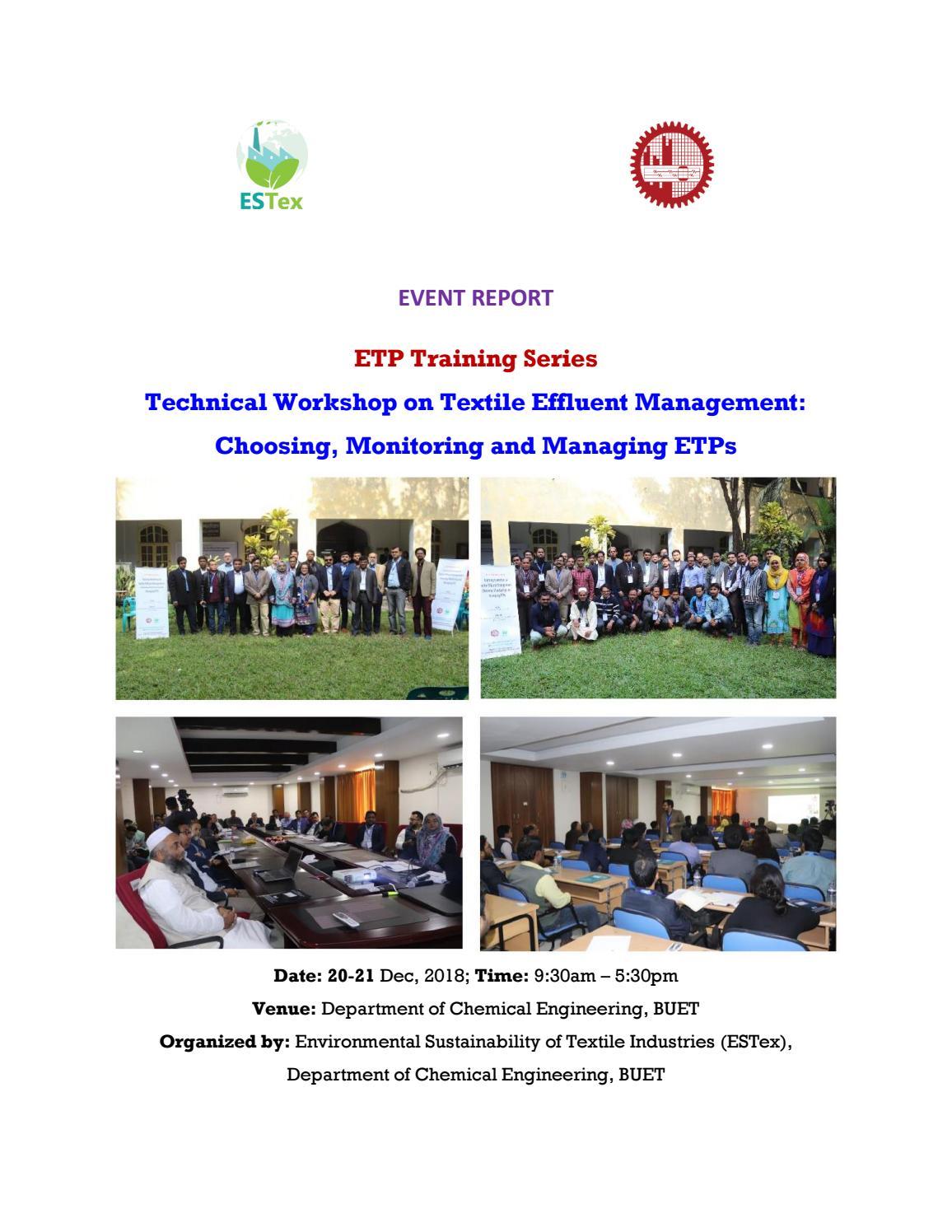 Technical Workshop on Textile Effluent Management: Choosing